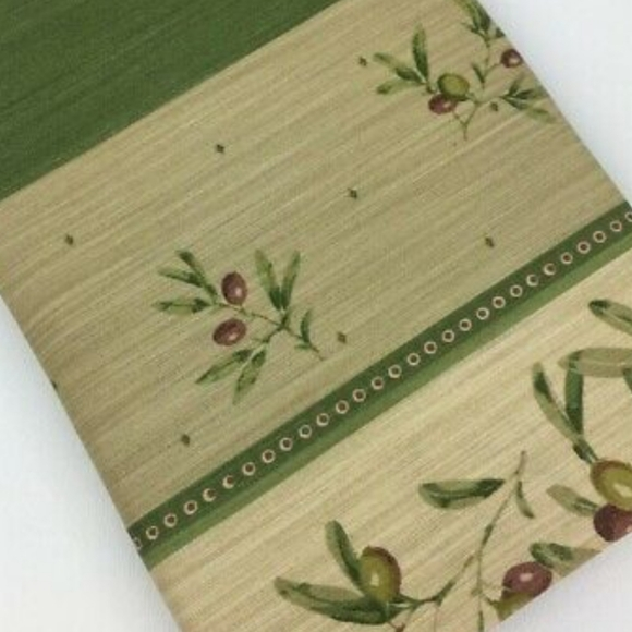 Window Valances with Olives